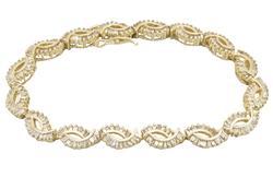 Diamond Filled Bracelet in 14kt Yellow Gold