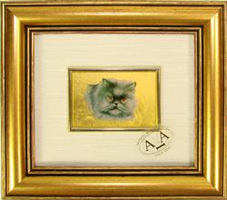 VERY COLLECTIBLE HANDMADE CERTIFIED 23K GOLD LEAF CAT