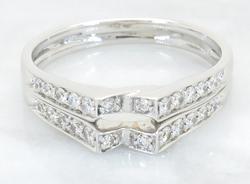 Glittering .45CTW Diamond Ring