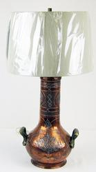 Vintage Egyptian copper lamp with new shade