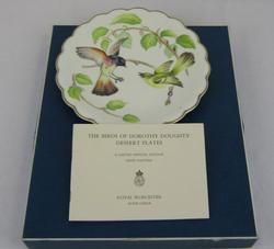 Royal Worcester The Bird of Dorothy Doughty desert plate