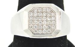 GENTS DIAMOND CLUSTER TOP RING