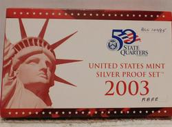 2003 Silver Proof Set, with Silver Proof State Quarters