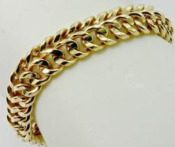 Substantial 7 inch Gold Bracelet