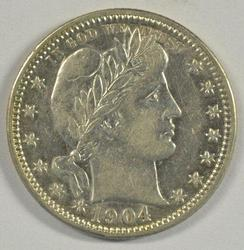 Key Date 1904-O Barber Quarter in Near Mint Condition