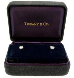 Tiffany & Co Bezel Set Diamond Stud Earrings