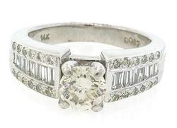 1.15 CTW Diamond Ring is White Gold
