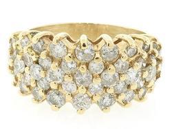 Round Brilliant Cut Diamond Cluster Ring