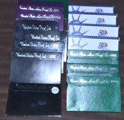 Group of 16 Different US Proof Sets: 1975-2003