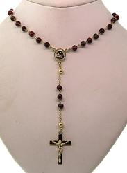 Garnet and Yellow Gold Rosary