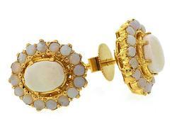 Opal Cluster Earrings in 22K