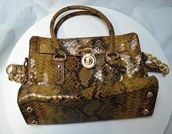 Michael Kors Python Padlock Handbag