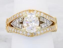 Glamorous 14K Yellow Gold 2.25CTW Diamond Ring