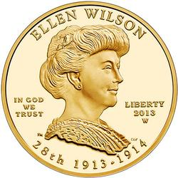 2013 $10 First Spouse, Wilson Proof, In Box