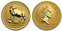 1997 1oz Fine Gold Ox Lunar Series
