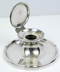 Early Sterling Silver Inkwell