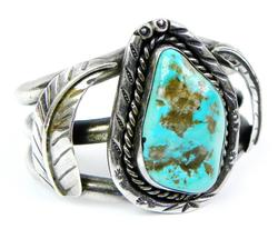 Fabulous Early N.A. Indian Turquoise Cuff