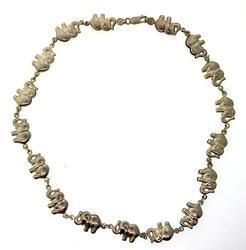 Elephant Link Vintage Necklace