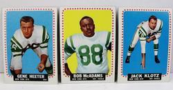 3 NY Jets 1964 Football Cards