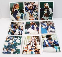 9 Dallas Cowboys Cheerleader Color Photo Cards
