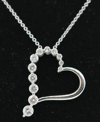 Diamond Heart Journey Pendant Necklace