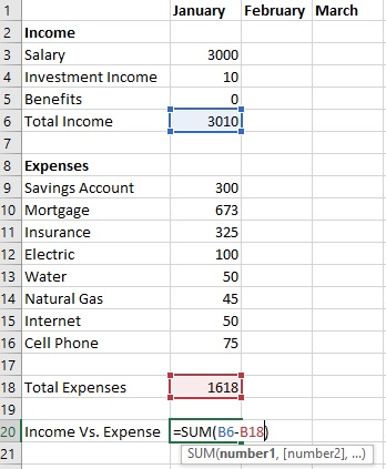 Create Budget Template for Excel