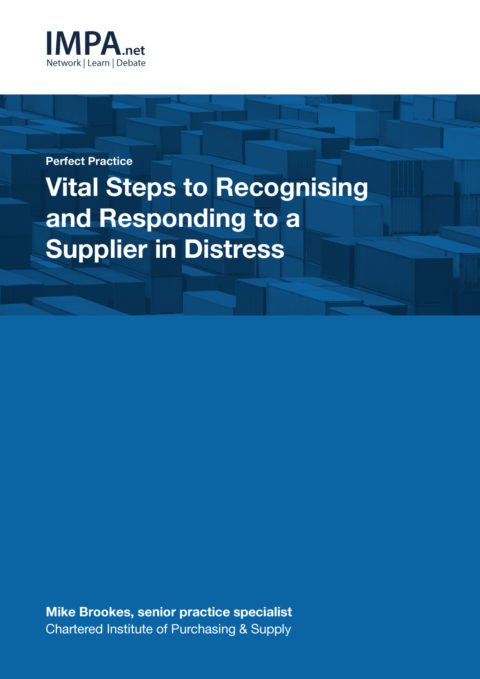 Vital Steps to Recognising and Responding to a Supplier in Distress