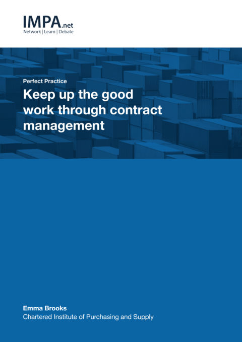 Keep up the good work through contract management