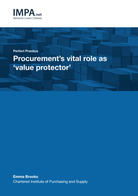 Procurement's vital role as value protector