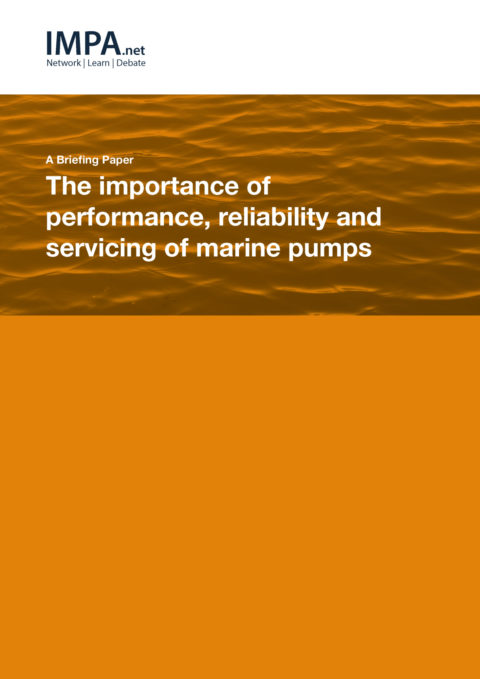 The importance of performance, reliability and servicing of marine pumps