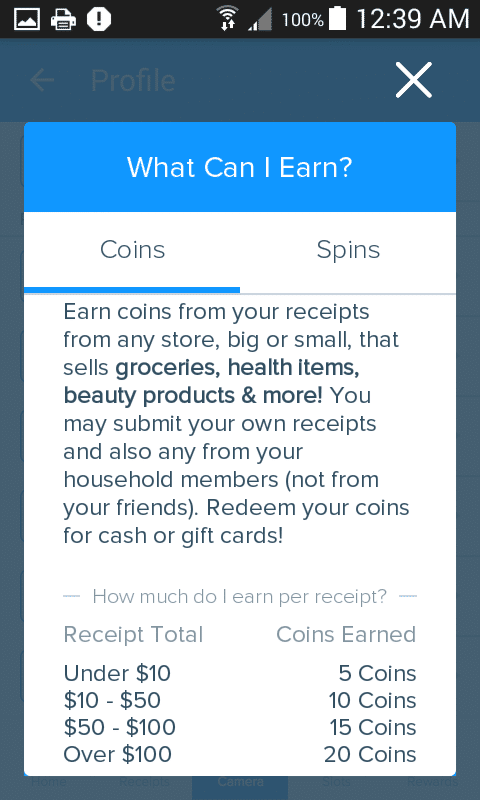 receipt hog earn payment structure