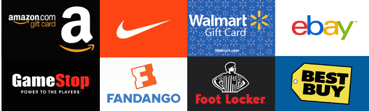 ShopKick Gift Cards Choices