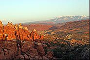 Fiery Furnace and La Salle Range, Arches National Park, Moab, Utah
