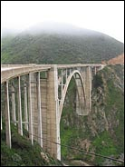 Bixby Bridge and Fog, Big Sur, California