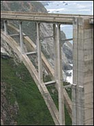 Section of the Bixby Bridge, Big Sur, California