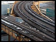 Train Tracks over the interstate, Chicago