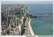 View of Lakeshore Drive from the Hancock Observatory, Chicago