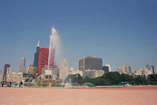 Skyline from Buckingham Fountain, Chicago