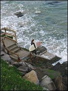 Surfer, Cliff Drive, Santa Cruz