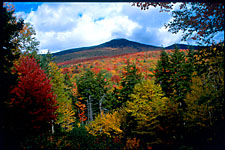 Mountains and fall foliage, Franconia Notch State Park, New Hampshire