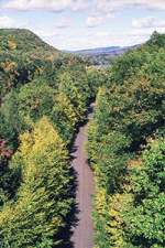 View of road from bridge, New Hampshire