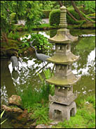 Stone Scuplture and Crane Statues, Japanese Tea Garden, Golden Gate Park