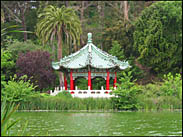 Pagoda structure, Stow Lake, Golden Gate Park