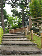 Steps leading up to the Buddha Statue, Japanese Tea Garden, Golden Gate Park