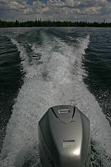 Speedboat on Jenny Lake