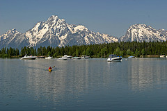 Boating, Jackosn Lake, Grand Teton