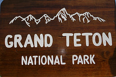 Entrance Sign, Grand Teton National Park