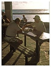Chess on the Beach, Waikiki, Honolulu, Hawaii