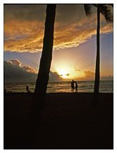 Sunset, Waikiki, Honolulu, Hawaii