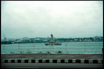 View of Buddha Statue, Tank Bund, Hyderabad, Andhra Pradesh